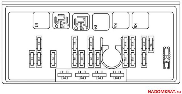 Блок предохранителей ВАЗ 2105 нового образца и его схема » НаДомкрат
