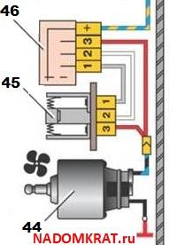 Система отопления салона ваз 2114