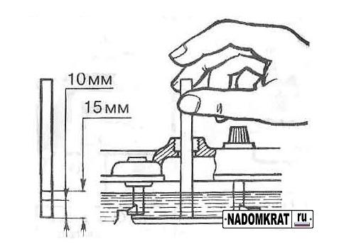 Замер уровня электролита трубочкой