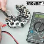 Проверка и замена диодного моста генератора на ВАЗ 2114