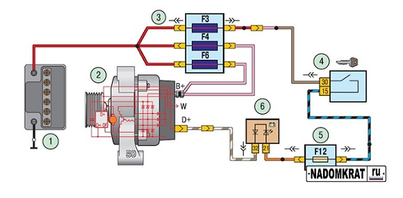 Схема подключения генератора ВАЗ 2114