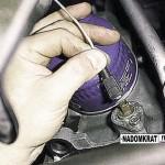 Принцип работы и замена датчика уровня масла на ВАЗ 2114