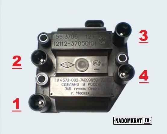 Модуль зажигания и нумерация проводов